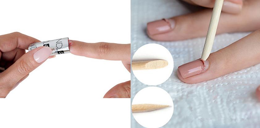 снятие покрытия гель-лака и шеллака