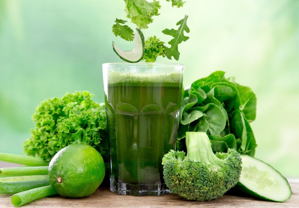 Продукты для очищения организма - зелень