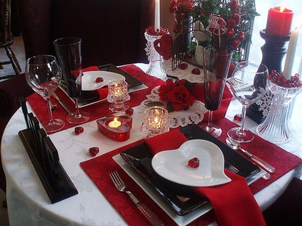 сервировка стола для романтического ужина