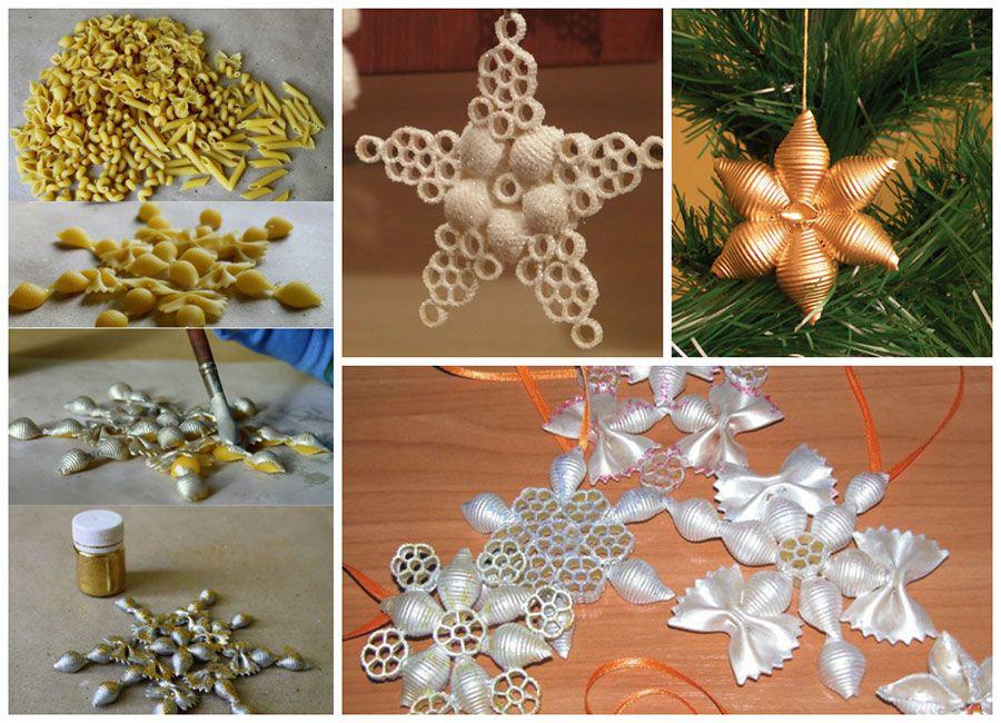 Новогодние украшения своими руками из макарон