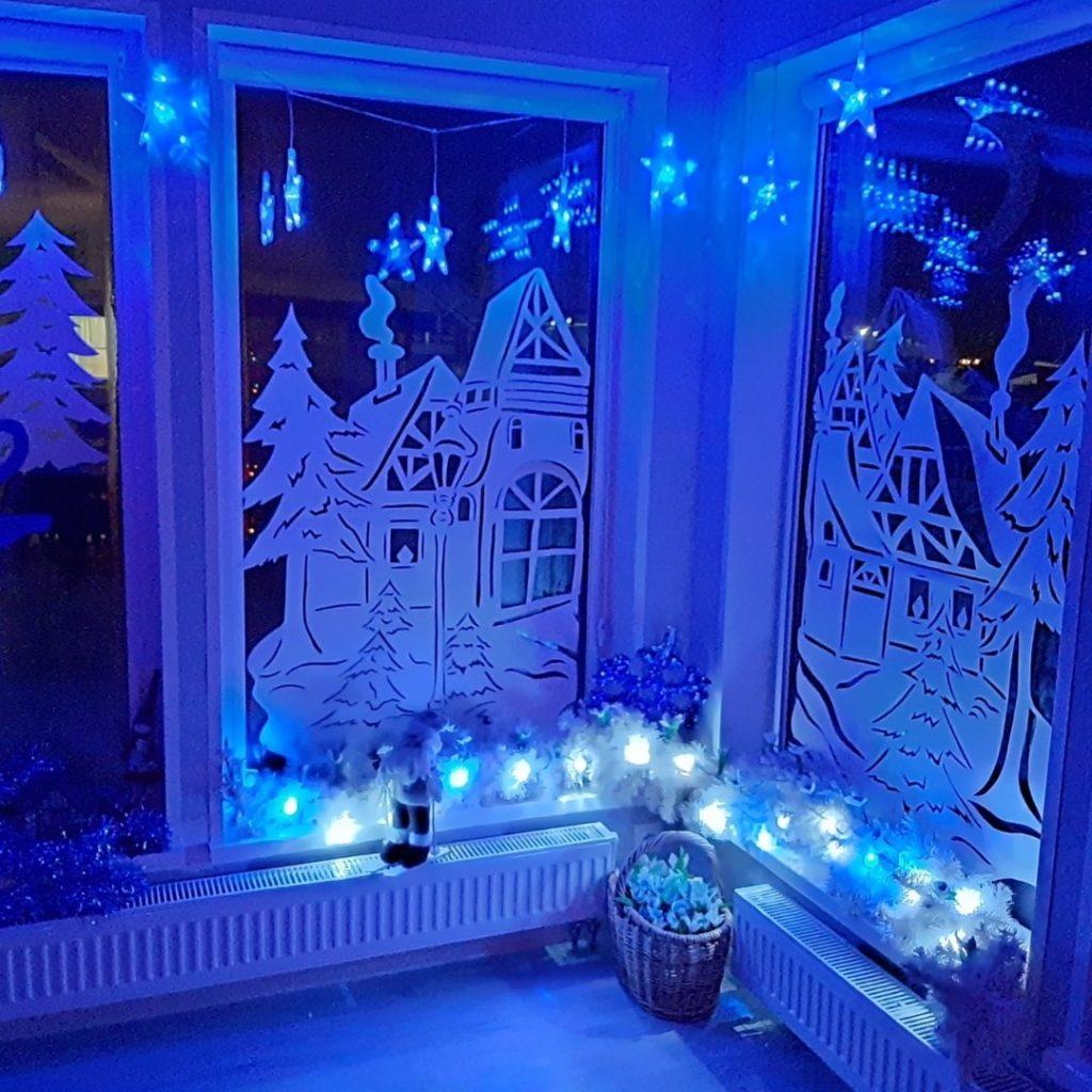 оформляем окна к новому году