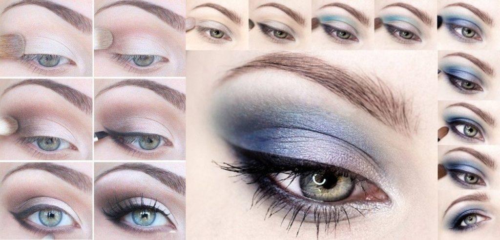 естественный новогодний макияж для серых глаз