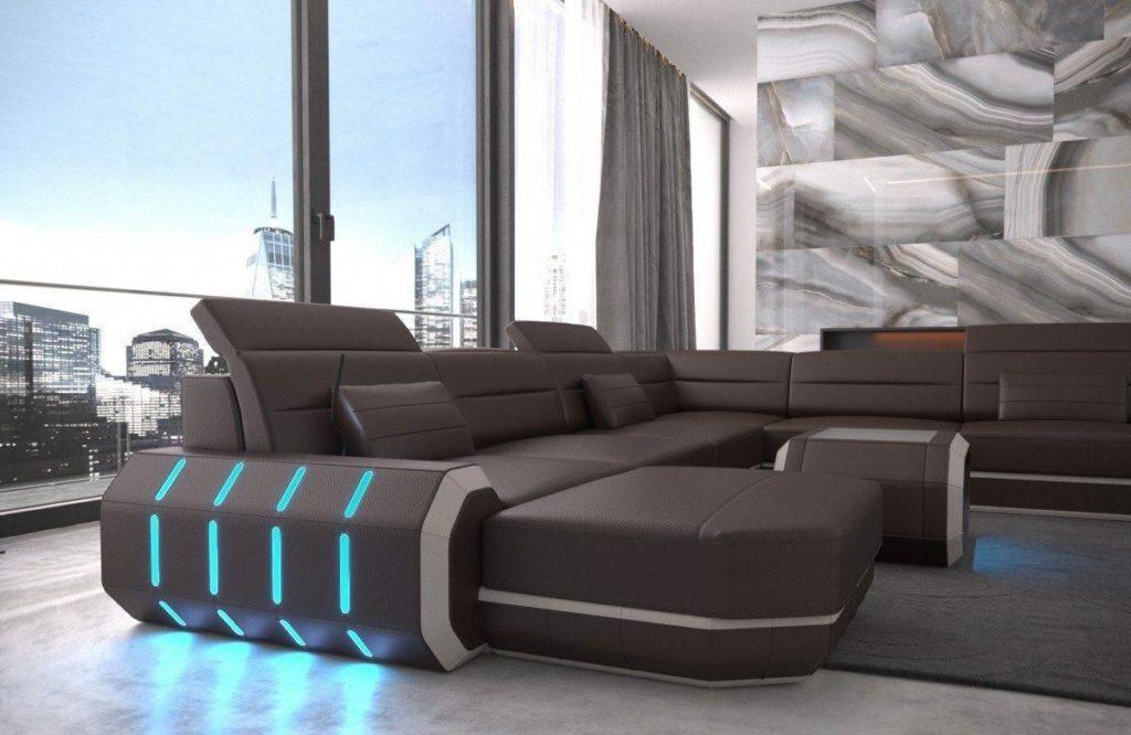 диван в стиле хай тек в интерьере