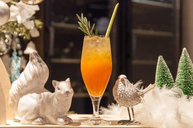 Новогодний коктейль Замороженная мимоза
