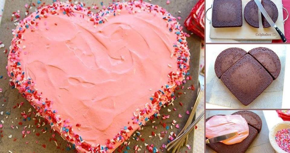 торт в виде сердца на 14 февраля
